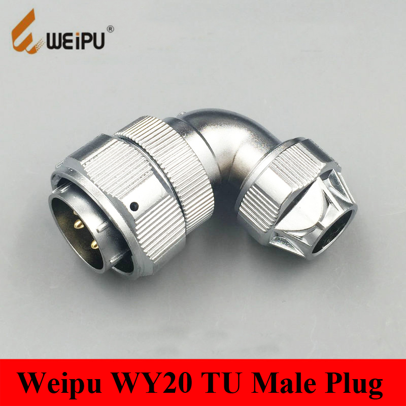 Connectors Original Weipu Connector Wy20 Tu 2 3 4 5 7 9 12 Pin Tu Male Angled Clamping Cable Plug Wy20 Tu Connector Waterproof Ip66 Jade White