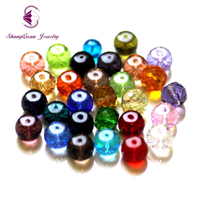 TOP AAA 12x10MM 100pcs pack DIY Spacer Beads Loose Beading Bracelet DIY Necklace Finds SQ3A151210 in Beads from Jewelry Accessories