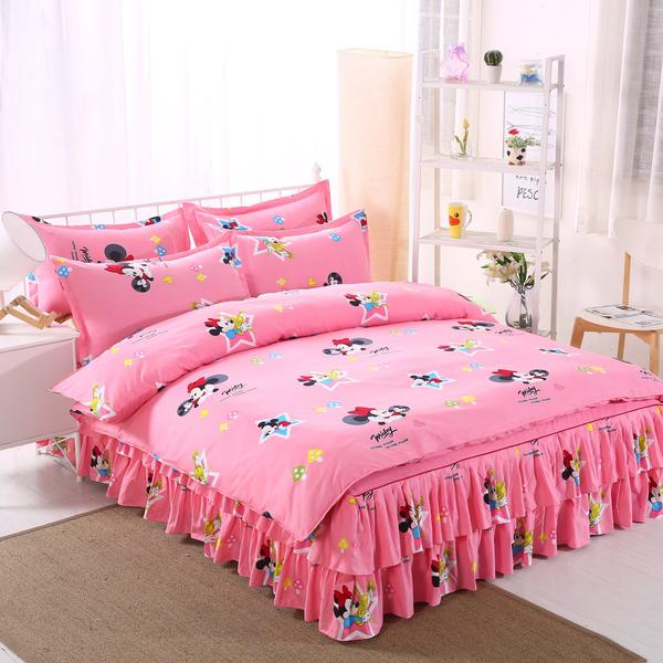 Minnie Mouse Bedding Set For Girls Bedroom Decor Cotton