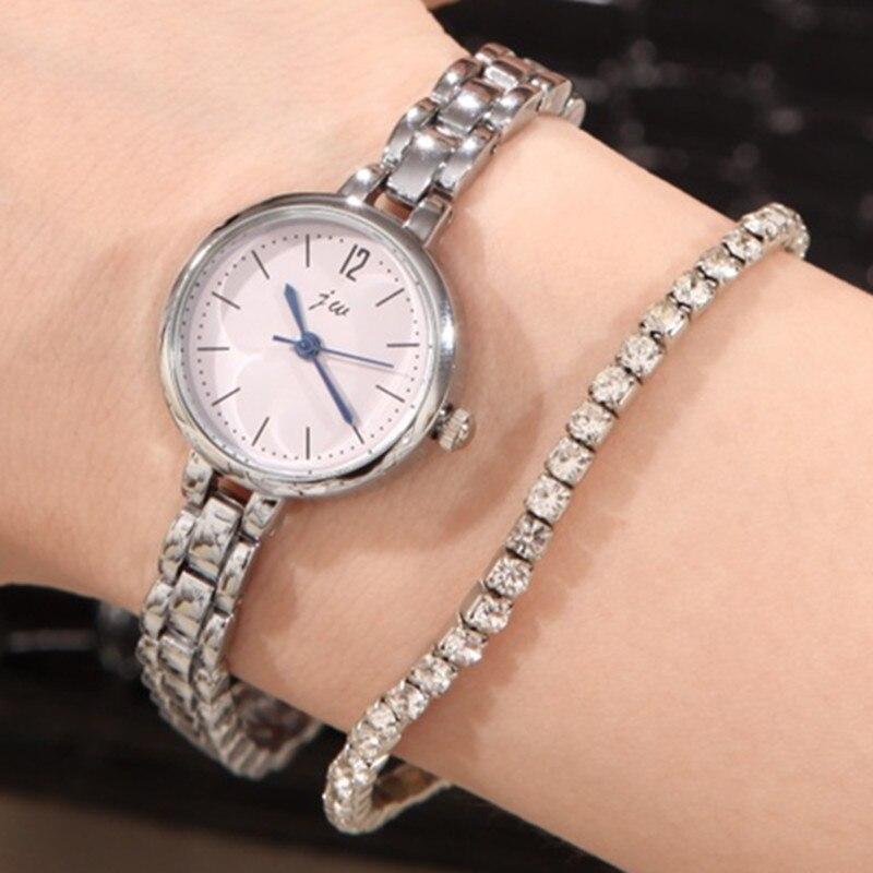 2019 modes sudraba kvarca pulksteņa pulkstenis sievietēm luksusa zīmolu JW nerūsējošā tērauda kristāla rotaslietas aproce rokas pulksteņi montre femme