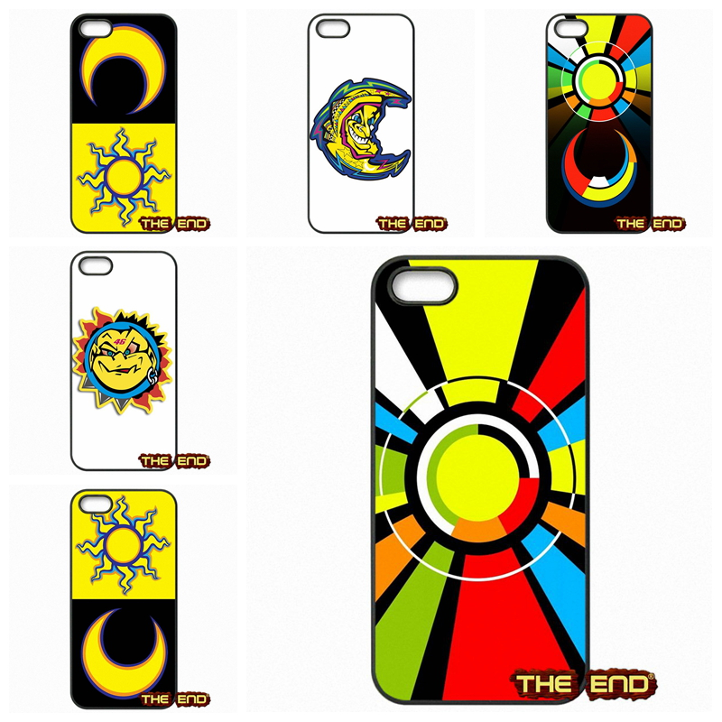 Valentino Rossi Sun Moon Logo Durable Cell Phone Case Cover For Apple iPod Touch 4 5 6 iPhone 4 4S 5 5C SE 6 6S Plus 4.7 5.5