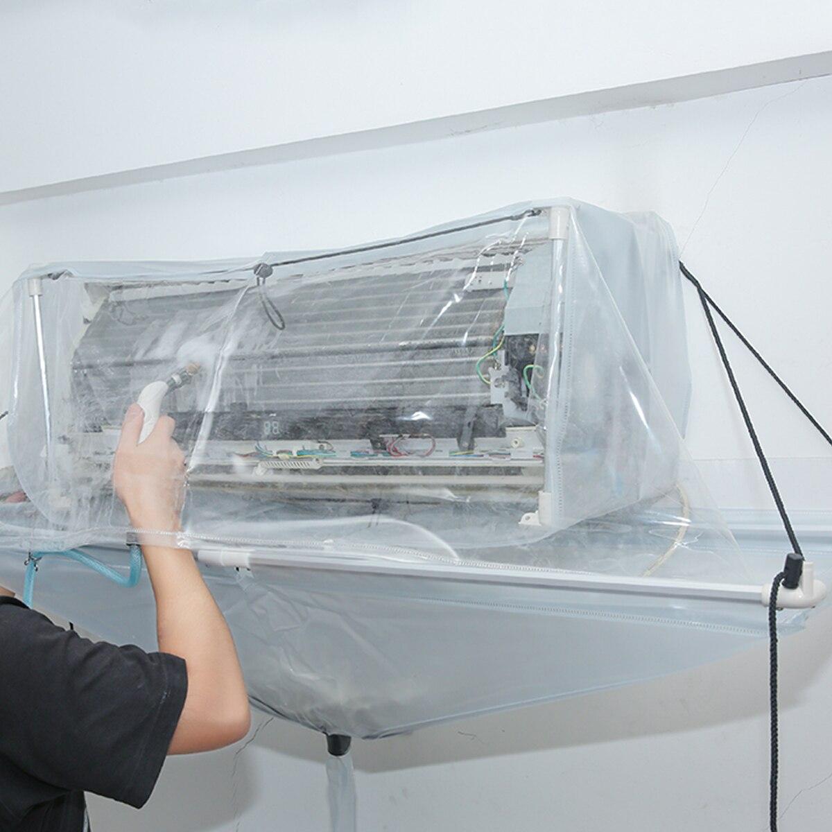 Entièrement fermé Type réutilisation climatiseur nettoyage outil de lavage plafond mural PVC climatisation nettoyant outil de lavage
