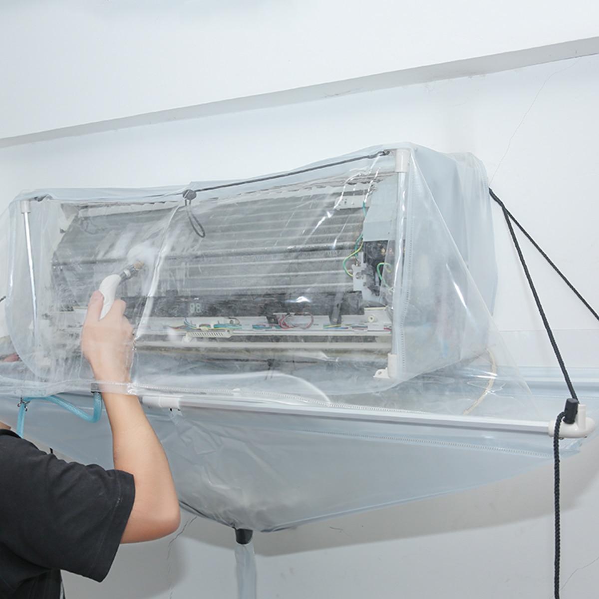 Totalement Fermé Type Réutilisation Climatiseur De Nettoyage À Laver Outil Plafond Mur Monté PVC Climatisation Propre À Laver Outil
