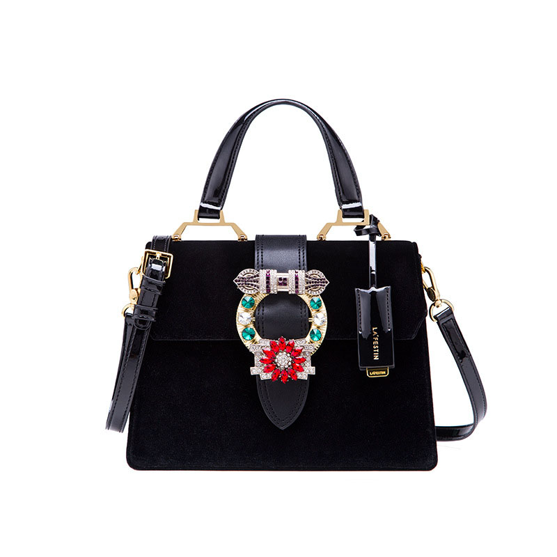 Europe and the United States new velvet diamond bag cover bag elegant fashion is trapezoidal multicolor shoulder Messenger bagEurope and the United States new velvet diamond bag cover bag elegant fashion is trapezoidal multicolor shoulder Messenger bag