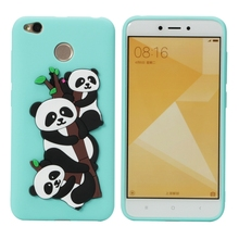 Xiaomi Redmi 4X Case Cartoon Cute Panda Candy Silicone Phone on for Cover Fundas Xiomi Xaomi