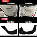 4pcs Fabric Door Protection Mats Anti-kick Decorative Pads For Chevrolet Captiva 2012-2015