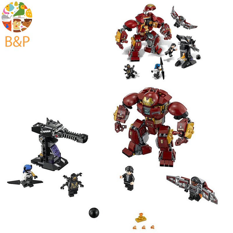 Lepin 07102 420pcs legoing Marvel Super Heroes Batman Iron Man Hulk Building Blocks Compatible 76104 Brick Toy For Children marvel avengers super heroes figures batman iron man black widow hulk joker lepin building blocks model sets toys for children