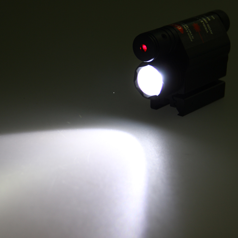 Combo Tactical LED Flashlight for hunting With Quick Release 5mW 650nm red laser no batteries