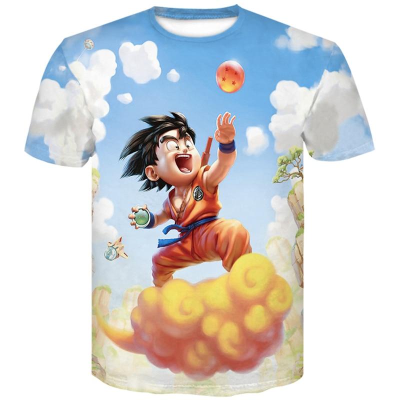 manga dragon ball z Super Saiyan Son Goku Anime Summer 3D Print 2019 Newest Fashion Tee Tops Men / Boys Cartoon Casual T Shirt