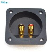 Placa de Caixa de Fio Copo quadrado Tipo Speaker Terminal Binding Post Conector do Cabo 80x80mm Pull-push Terminais HIFI DIY Frete Grátis