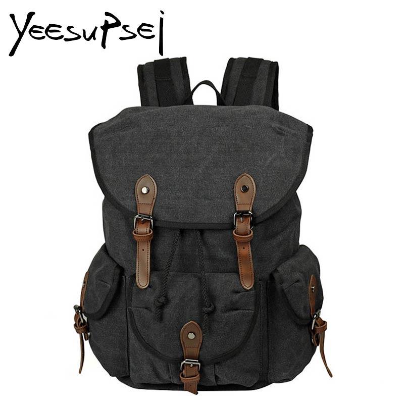 YeeSupSei toile hommes voyage de haute qualité sac hommes grand sac de voyage sac à dos en cuir boucle week-end sac de nuit grande capacité sac