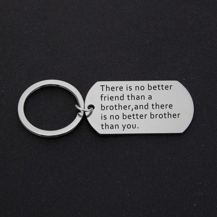 Brat siostra brelok brat urodziny prezenty duży brat siostra prezent dla mężczyzn dla kobiet młodszy brat boże narodzenie prezenty