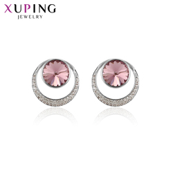 Xuping brincos elegantes cristais de alta qualidade da festa swarovski jóias de luxo para presentes do dia dos namorados feminino M21-20321
