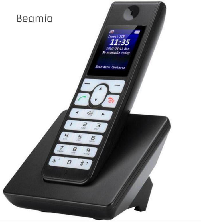GSM Cordless Support SIM Card Wireless Phone With SMS Backlight font b LCD b font Screen