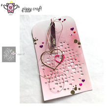 Piggy Craft metal cutting dies cut die mold Love heart background Scrapbook paper craft knife mould blade punch stencils dies
