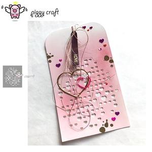 Image 1 - Piggy Craft metal cutting dies cut die mold Love heart background Scrapbook paper craft knife mould blade punch stencils dies