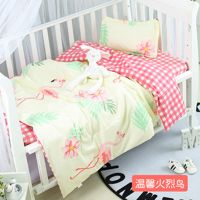 With Filling Fashion Flamingo Cot Bed Sheets Blanket Cotton Thickening Baby Beddings Newborn,Duvet /Sheet/PillowWith Filling Fashion Flamingo Cot Bed Sheets Blanket Cotton Thickening Baby Beddings Newborn,Duvet /Sheet/Pillow