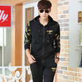 BOY LONDON Hip-Hop Dance RAP ROCK Street Fashion Plus Velvet Hooded Sweater Suit  1310MMT31
