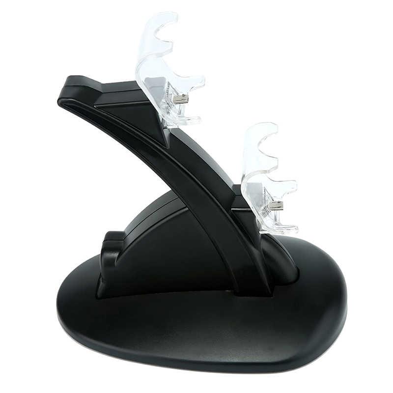 Двойной usb зарядное устройство док-станция Подставка для PS4 контроллера (черный)