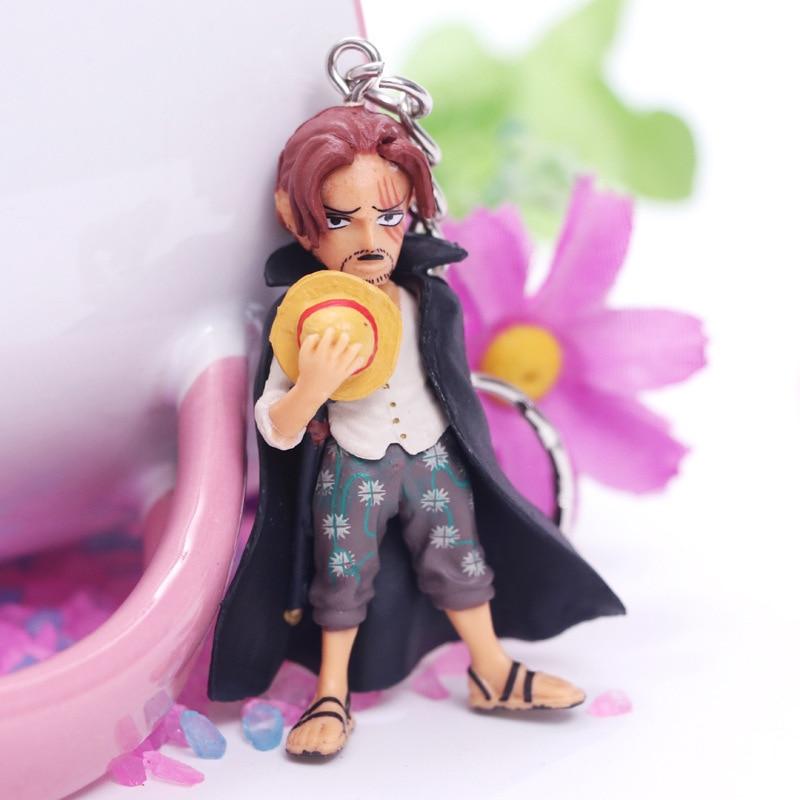 New One Piece 6pcs/set Pvc Action Figure Key Ring Edward Newgate Shanks Doflamingo Roger Figure Keychain Model Toys Gift Doll