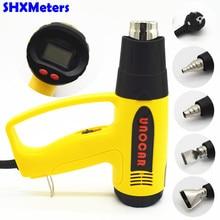 Eu-stecker 220 V 2000 Watt 100-650 C LCD Display Industrielle Elektrische Heißluftpistole Temperaturregler Heißluftgebläse mit verschiedenen Düse