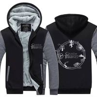 Right Game Of Ice And Fire Song Of The US Drama Around Hoodies Zipper Fleece Thickening