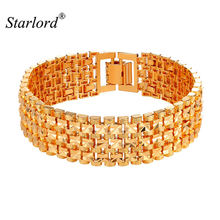 Большой браслет starlord ширина 18 мм модный золотистого/серебристого