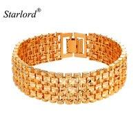 New Arrivals Big Chain Link Bracelet With 18 MM Width Fashion Gold Silver Color Bracelet 21CM