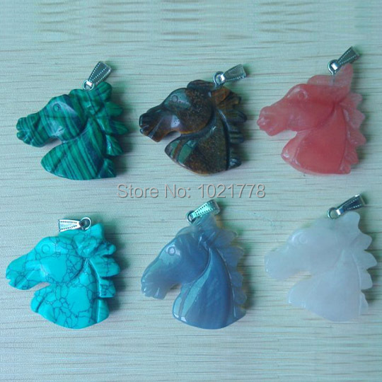 2017 hot sell carved mixed natural stone horse charms pendants for 2017 hot sell carved mixed natural stone horse charms pendants for necklace jewelry making 6pcslot wholesale free shipping in pendants from jewelry mozeypictures Gallery