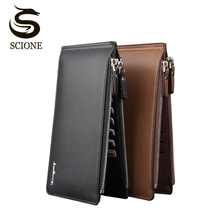 Fashion Men Wallet Pu Leather Pocket Clutch Long Wallet Coin