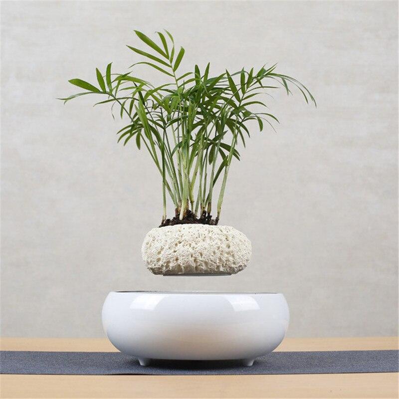 Levitating Air Bonsai Pot Flower Pot Planters Magnetic Levitation Suspension Flower Floating Pot Potted Plant Home