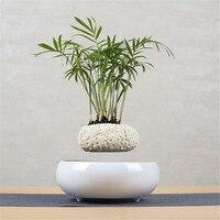 Levitating Air Bonsai Pot Flower Pot Planters Magnetic Levitation Suspension Flower Floating Pot Potted Plant Home Office Decor