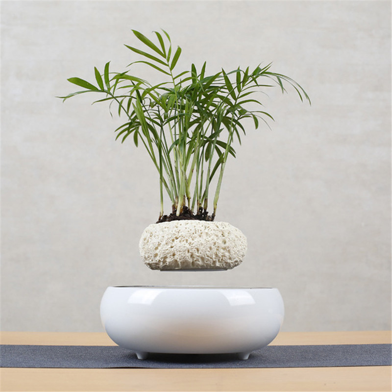 Levitating Air Bonsai <font><b>Pot</b></font> <font><b>Flower</b></font> <font><b>Pot</b></font> Planters <font><b>Magnetic</b></font> Levitation Suspension <font><b>Flower</b></font> Floating <font><b>Pot</b></font> Potted Plant Home Office Decor image