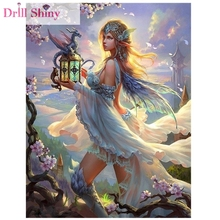 Diamond Painting Kit Dragon Girl Square Rhinestones Cross Stitch 5D Embroidery Mosaic Needlework