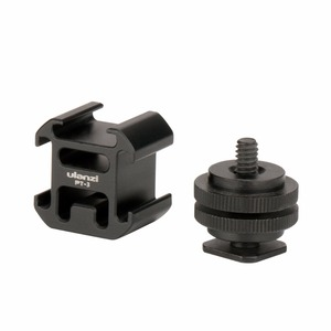 Image 3 - Ulanzi PT 3S Triple Hot Shoe Mount Adapter Cold Shoe Extend Monitor Mic Fill Light for Nikon Canon Sony DSLR Camera Accessories