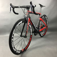 Complete Full Carbon Fiber Road Bike Racing Cycling Leadnovo Black Red White with 9/10/11 speed