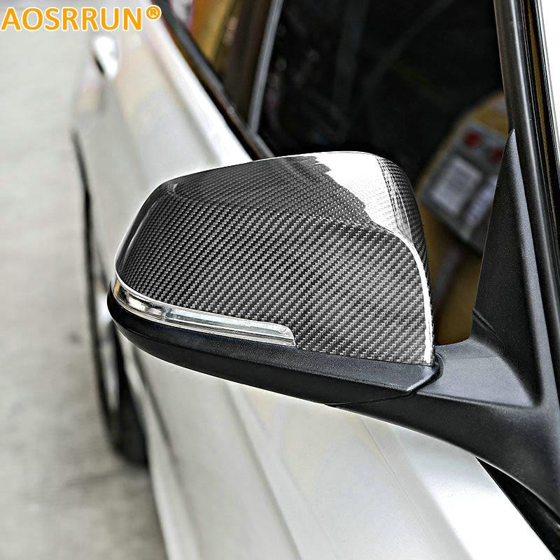 Carbon fiber Rear view mirror Cover Car accessories For BMW F30 F34 F31 F32 320i 316i 328i 420i 2012-2016 yandex w205 amg style carbon fiber rear spoiler for benz w205 c200 c250 c300 c350 4door 2015 2016 2017
