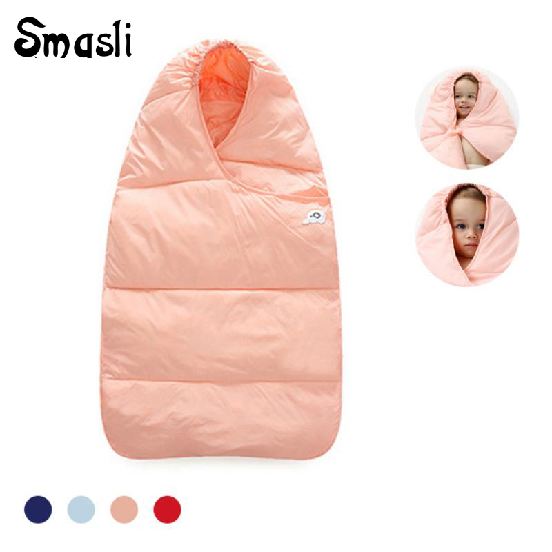 Baby sleeping bag winter Warm kids stroller infant toddler sleeping bag wheelchair baby bed envelope newborn sleep sack 0-12M цены