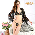 Women Chemises Sleepwear Sexy Black Tulle Lace Transparent Nightgown Large Size Homewear Suit Erotic Lingerie Babydolls Intimate