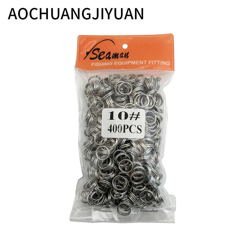 500 Uds anillos de pesca de acero inoxidable de alta resistencia señuelo anillo sólido lazo para conectores de cebo de cigüeñal en blanco Kit de herramientas de aparejos