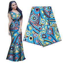 Excellent African fabric Real dutch wax 100% cotton high quality Ankara printing wax fabric sewing material for dress 6yards ankara fabric african real wax print 2019 wax high quality african wax cotton fabric 6yards for women dress 1307 77