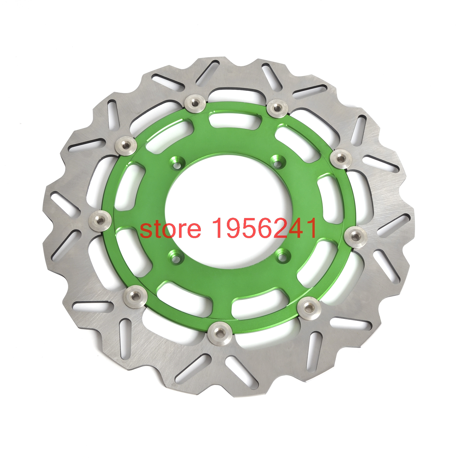 320mm Supermoto Racing Floating Front Brake Disc Disk Rotor For Kawasaki KX125 KX250 KX250F KX450F KLX450R keoghs motorcycle brake disc brake rotor floating 260mm 82mm diameter cnc for yamaha scooter bws cygnus front disc replace