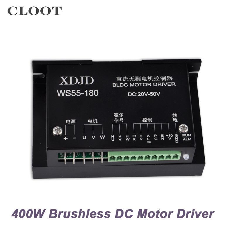 Free Shipping DC 20-50V Brushless Motor Driver CNC Stepper Motor Driver Controller For 400W Machine Tool Spindle
