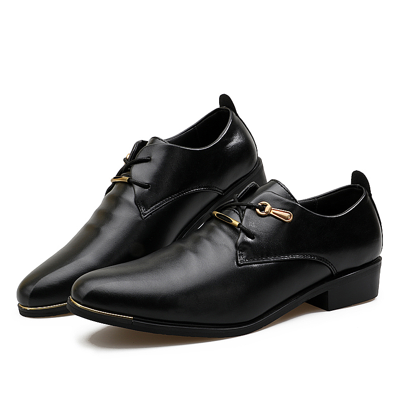 Luxury Brand Genuine Leather Men Shoes High Quality Lace Up Business Derby Shoes Men Wedding Shoes