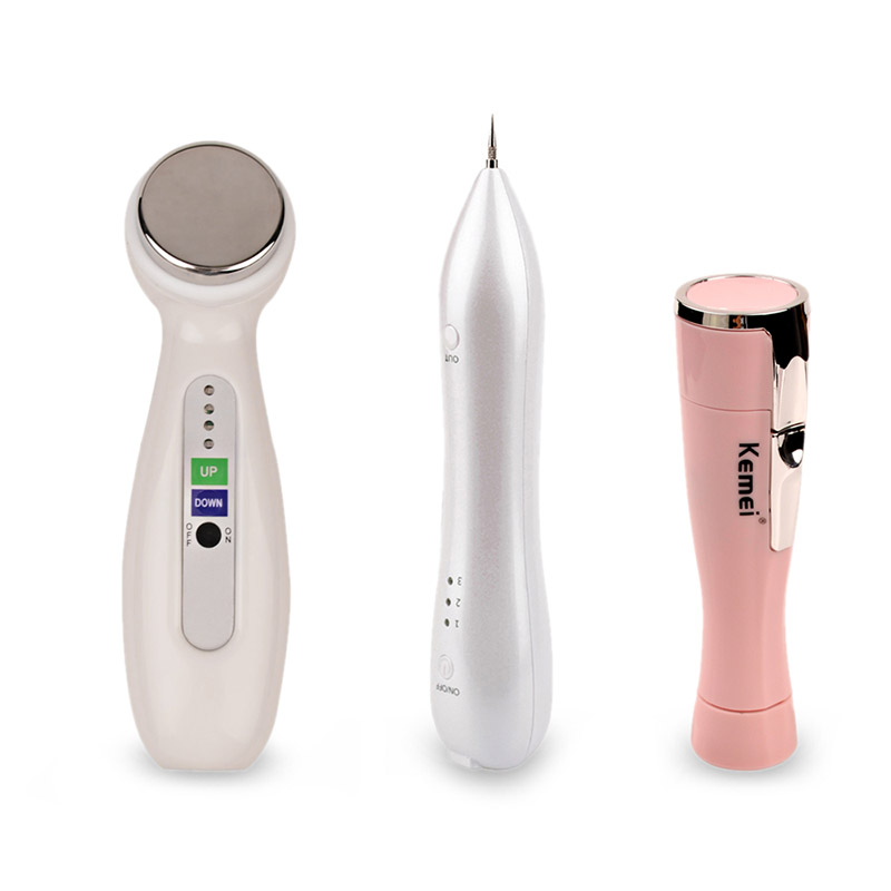 Laser Spot Mole Freckle Removal Machine +Face Lift Skin Tightening Ultrasonic Facial Massager Beauty Instrument +Lady shaver G49 face care diy homemade fruit vegetable crystal collagen powder beauty facial mask maker machine for skin whitening hydrating us