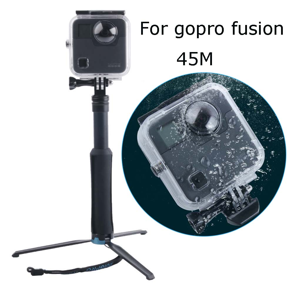 45m Go Pro Underwater Waterproof Case For Gopro Fusion Camera Diving Housing Mount For Gopro Fusion Accessories 100% Original