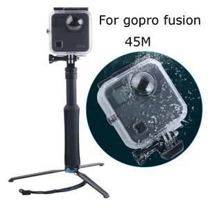 Funda impermeable subacuática 45M GO PRO para cámara de fusión gopro montaje de buceo para accesorios de fusión gopro