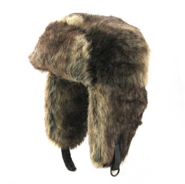 990c09cbc6b75 Bomber Hat Russian Hat Ushanka Army Military Caps Mens Winter Hats Ear  Flaps Chapka Russe Homme Gorro Ruso Men Fur Hats