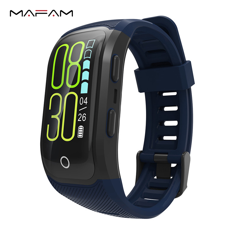 цена MAFAM S908S GPS Smart Band IP68 Waterproof Sports Wristband Sports Heart Rate Monitor Call Reminder Wrist Band For Android IOS