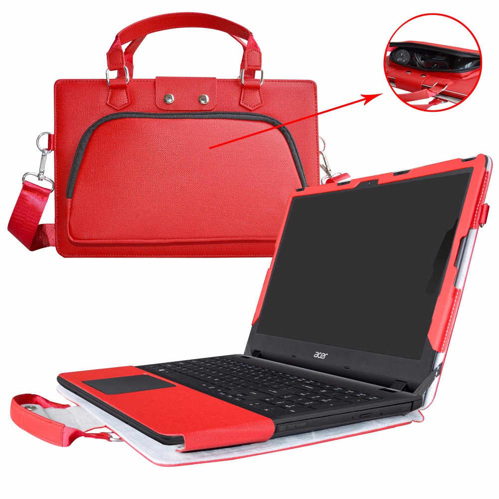 Accurately Designed Protective PU Leather Cover + Portable Carrying Bag For 15.6 ACER Aspire ES ES1-572 ES1-533 series Laptop ...